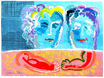 Young Love 36x44 Original Painting - Calman Shemi
