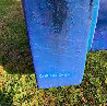 Dinamics Squaris Plaster and Wood Sculpture 37 in Sculpture by Calman Shemi - 4