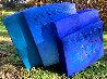 Dinamics Squaris Plaster and Wood Sculpture 37 in Sculpture by Calman Shemi - 0