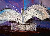 De Profundis Tapestry - Unique 1995 83x65 Tapestry by Calman Shemi - 0