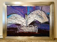 De Profundis Tapestry - Unique 1995 83x65 Tapestry by Calman Shemi - 2