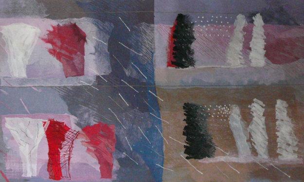 Deja Vu Tapestry 55x120 Tapestry by Calman Shemi