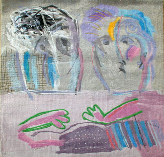 Tete a Tete #7 Tapestry 1988 68x58 Tapestry by Calman Shemi