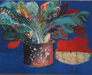 Still Life in Blue AP Limited Edition Print - Calman Shemi