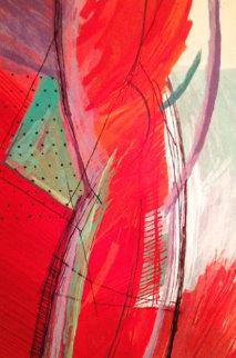 2 Sided Tapestry 1987 79x53 Super Huge  Tapestry - Calman Shemi