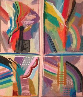 Dynamics in Fours #8 Tapestry 63x55 Tapestry - Calman Shemi
