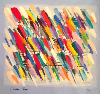 Jazz Notes 2005 Embellished Limited Edition Print - Calman Shemi