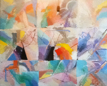 Winds 1989 51x63  Huge Original Painting - Calman Shemi