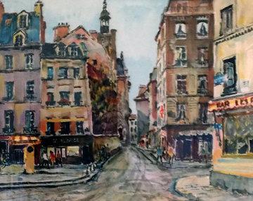 Rue Montagne De Saint Genevieve 1992 Limited Edition Print - Pierre Eugene Cambier