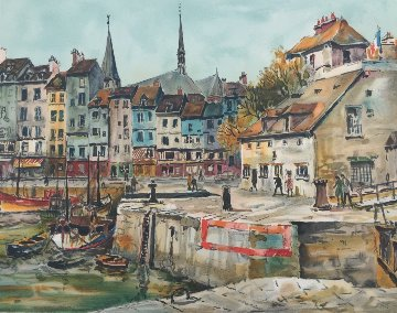 Honfleur 1993 Limited Edition Print - Pierre Eugene Cambier