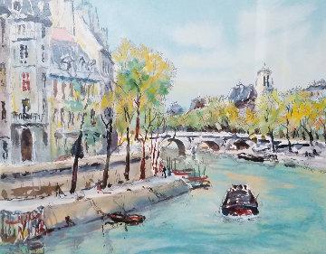 Paris, Le Pont De La Tourmelle Limited Edition Print - Pierre Eugene Cambier