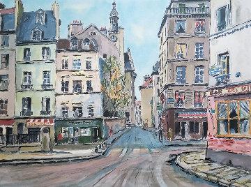 Rue Montagne De Saint Genevieve  Limited Edition Print - Pierre Eugene Cambier