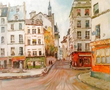Untitled Watercolor 30x35 Watercolor - Pierre Eugene Cambier