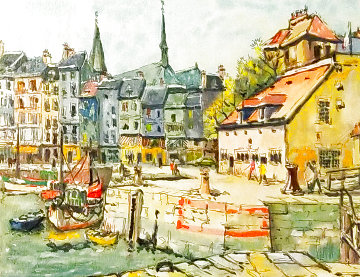 Honfleur PP 1993 Limited Edition Print - Pierre Eugene Cambier