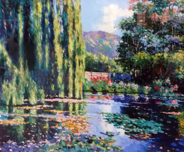 View of Monet's Garden 1995 Limited Edition Print by Claude Cambour