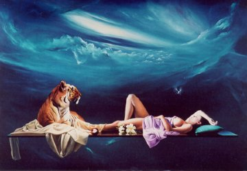 Tiger Lilly 1990 Limited Edition Print by Dario Campanile
