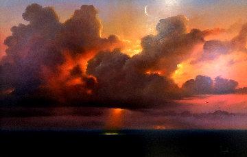 Visioni Nel Cielo 2009 30x41 Original Painting - Dario Campanile