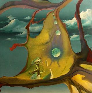 Crystal Ooze 1980 44x44 Original Painting - Dario Campanile