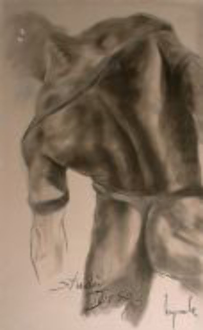 Torso (Nude) Pastel 1985 48x29 Works on Paper (not prints) by Dario Campanile