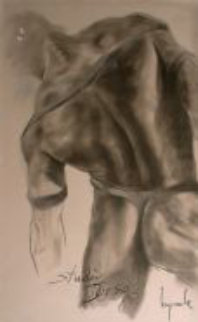Torso (Nude) Pastel 1985 48x29 Drawing - Dario Campanile