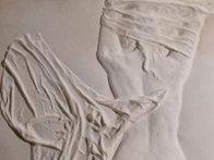Helena Rising unique Cast Paper Sculpture 1985 42 in Sculpture by Dario Campanile - 2