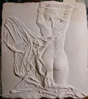 Helena Rising unique Cast Paper Sculpture 1985 42 in Sculpture by Dario Campanile - 1