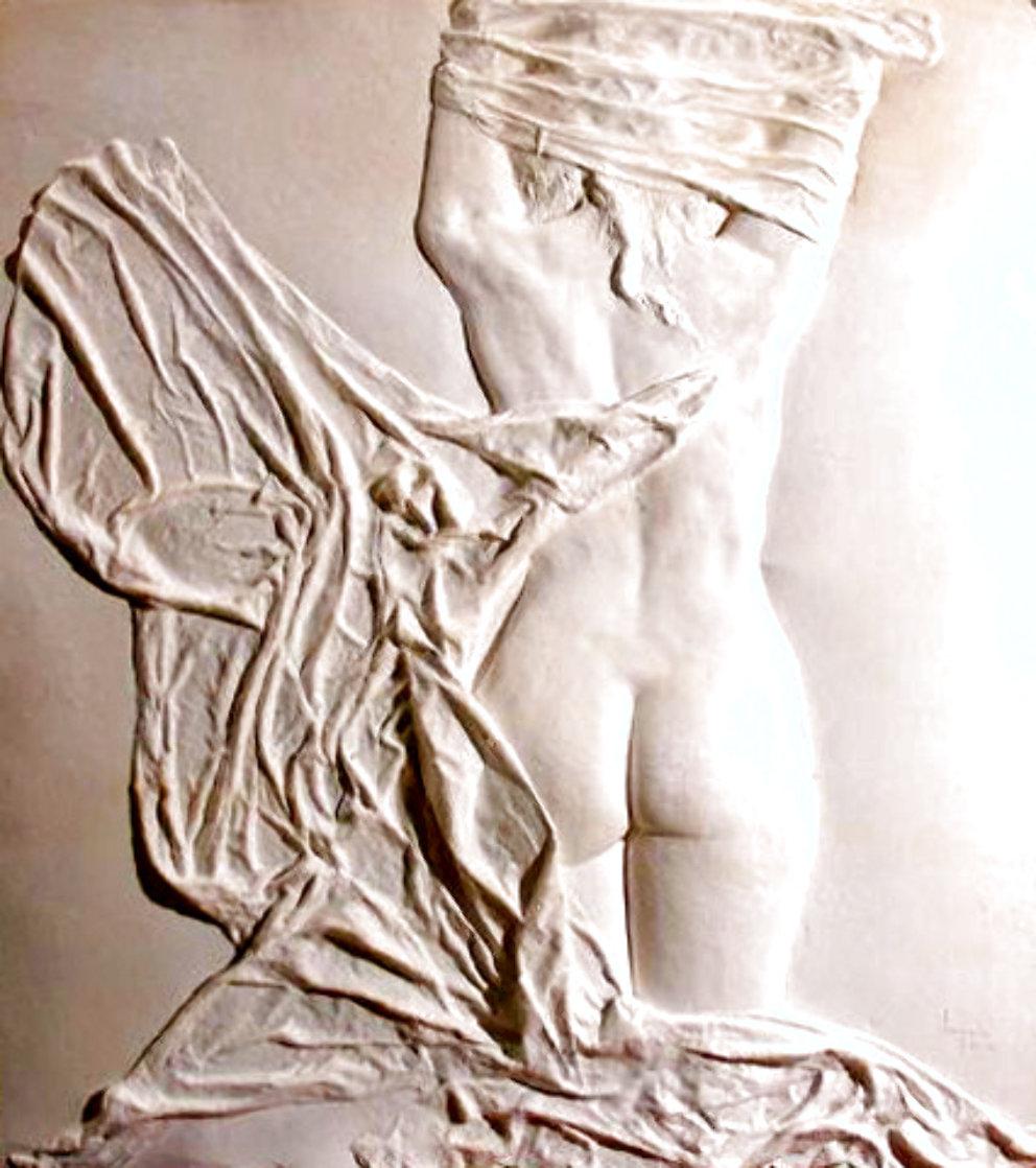 Helena Rising unique Cast Paper Sculpture 1985 42 in Sculpture by Dario Campanile