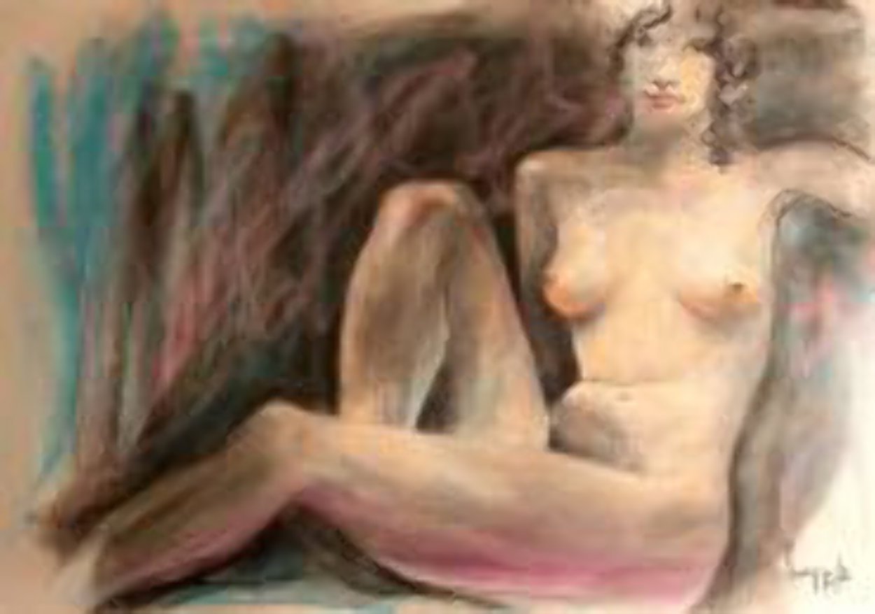 Parisian Women (Nude) 1985 early work 30x44  Works on Paper (not prints) by Dario Campanile