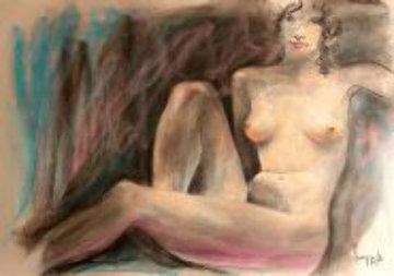 Parisian Women (Nude) 1985 early work 30x44  Drawing by Dario Campanile