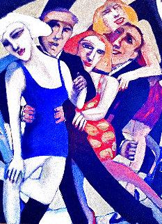 Smoke Follows Beauty 2000 47x37 Huge Original Painting - Sandra Jones Campbell