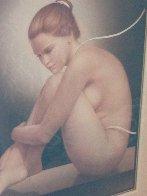 Nude Dancer 42x36 Original Painting by Edson Campos - 4