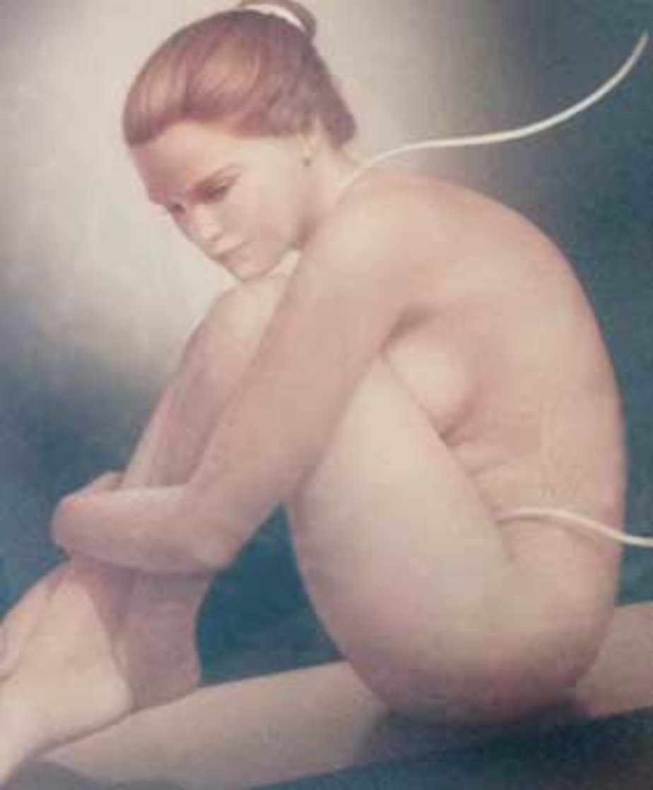 Nude Dancer 42x36 Original Painting by Edson Campos