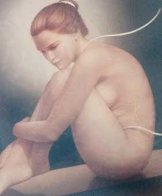 Nude Dancer 42x36 Original Painting by Edson Campos - 0
