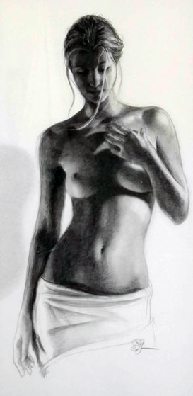 Bronze Drawing 2009  47x38 Drawing by Edson Campos