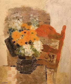 La Chaise Espagnole 38x32 Original Painting - Noe Canjura