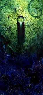 Untitled Water Drop Painting 2013 45x27 Super Huge Original Painting - Tim Cantor