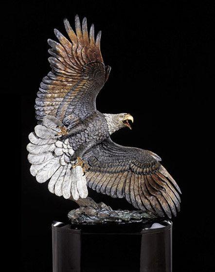Windwalker Bronze Sculpture 58 in  Sculpture by Kitty Cantrell