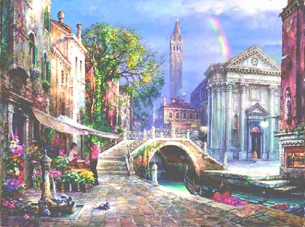 Day of Love  Embellished 2003 Limited Edition Print by Cao Yong
