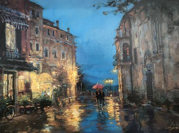 Lovers Under the Rain Limited Edition Print - Cao Yong