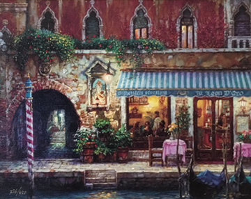 Venice by Night Embellished Limited Edition Print - Cao Yong