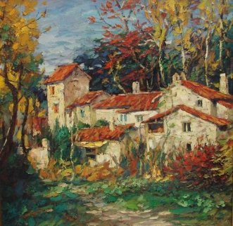 Fall 2000 30x30 Original Painting by Cao Yong
