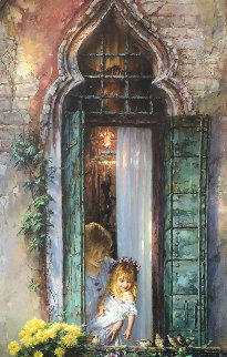 Morning Song 2000 Embellished  Limited Edition Print by Cao Yong