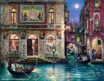 Memories of Venice 2002 Embellished W Remarque Limited Edition Print by Cao Yong