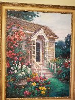 Cottage Entrance 1996 40x30 Super Huge Original Painting by Cao Yong - 1