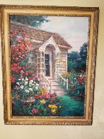 Cottage Entrance 1996 40x30 Super Huge Original Painting by Cao Yong - 2