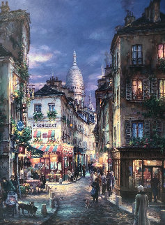 A Stroll in Montmartre Limited Edition Print by Cao Yong