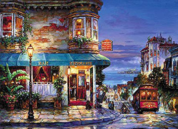 Hyde Street Unique Embellished San Francisco  Limited Edition Print by Cao Yong