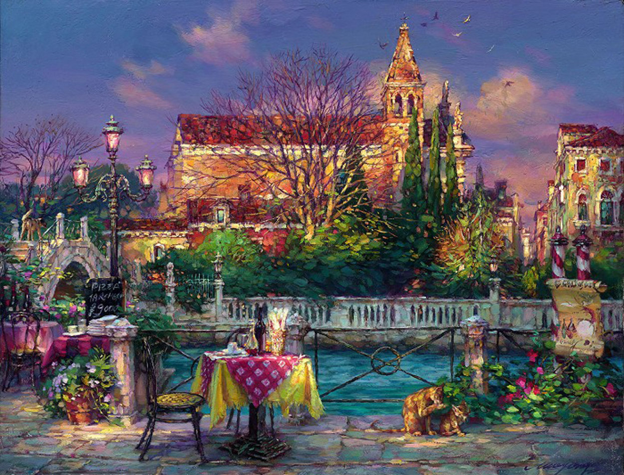 Pleasant Day 2000 Embellished Limited Edition Print by Cao Yong