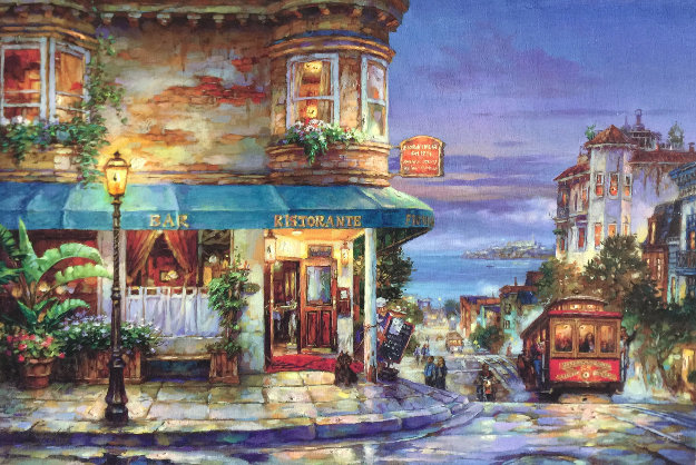 Hyde Street Embellished Limited Edition Print by Cao Yong