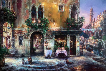 Evening in Venice  Embellished Limited Edition Print by Cao Yong